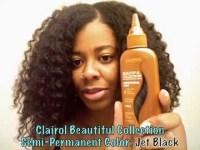 Black Rinse on Natural Hair - YouTube