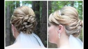 bridal updo shoulder length