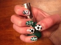 Soccer Nails - YouTube
