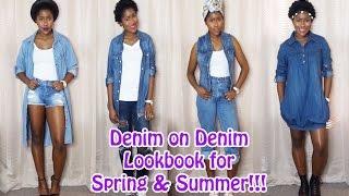 Denim on Denim Lookbook for Spring&Summer!!! Mona B.
