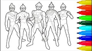 Ultraman Zero Wiki Ultra Sever Heroes Dragon Coloring Pages