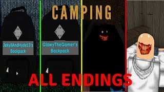 Roblox Camping All Endings (2019)
