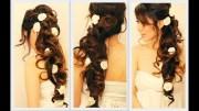 elegant side-swept curls wedding