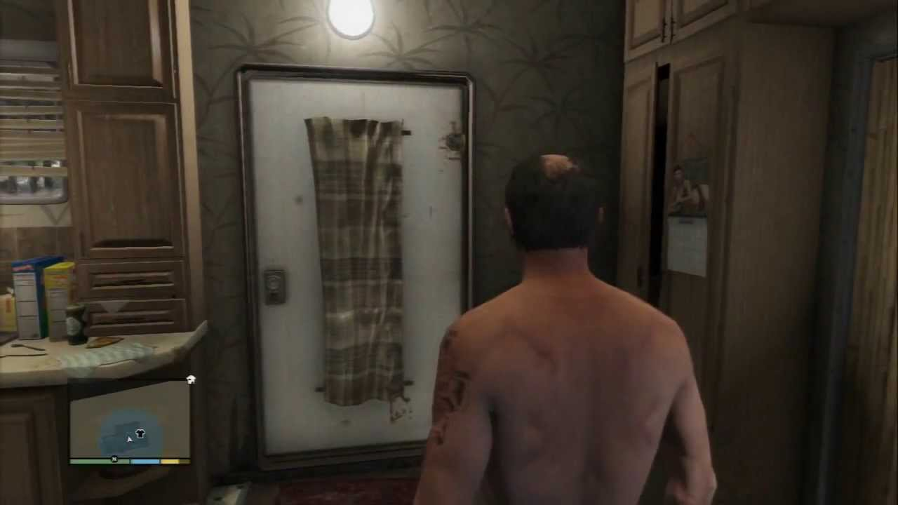 Grand Theft Auto V Trevor Phillips Does His Business In