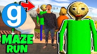 Brand New Baldi's Basics in Education and Learning All Characters Maze Run #9 (Gmod) Garry's Mod