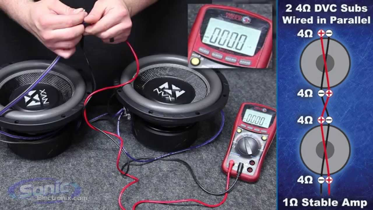 Wire Dual 2 Ohm Subs To 1 Ohm On Subwoofer Wiring Diagrams Dual Voice