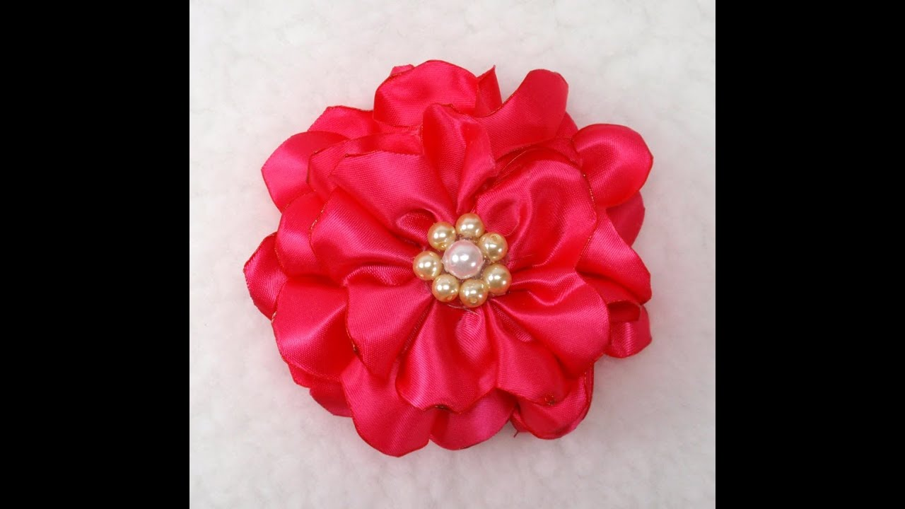 DIY Quick And Easy Fabric Flower Tutorial DIY How To