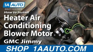 How To Install Heater Air Conditioning Blower Motor Chevy GMC Pickup Truck 1AAuto  YouTube