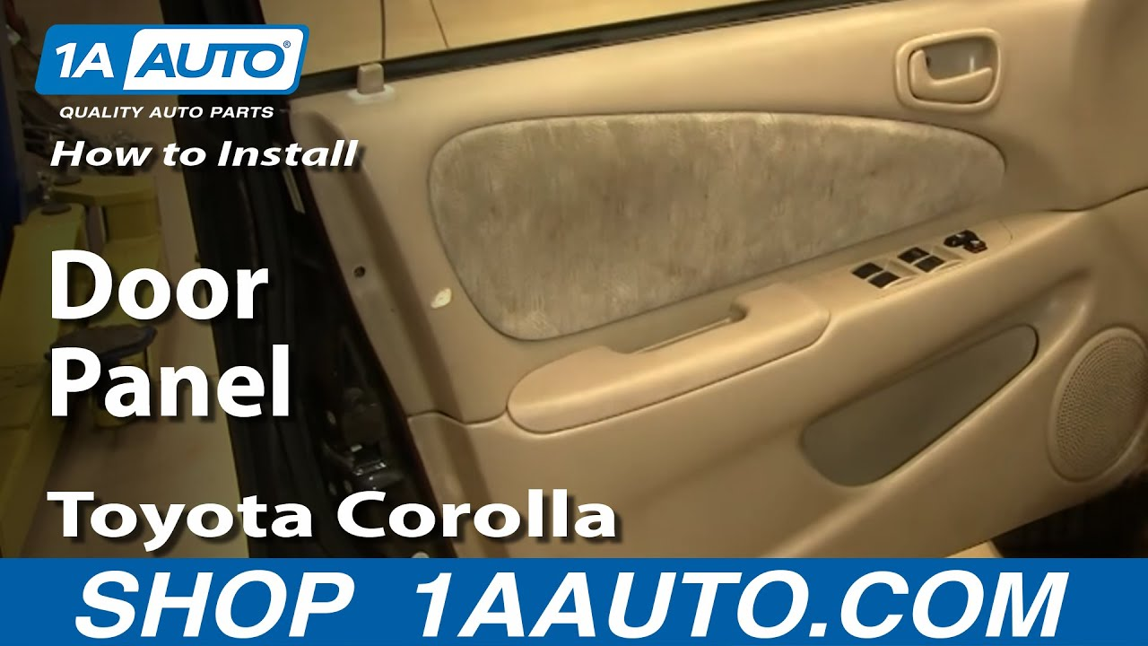 2003 Honda Accord Interior Fuse Panel Diagram How To Install Replace A Door Panel Toyota Corolla 98 02
