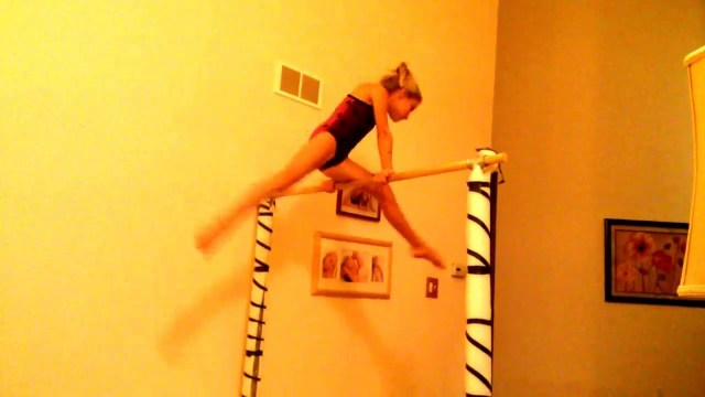 Homemade Gymnastics Bar