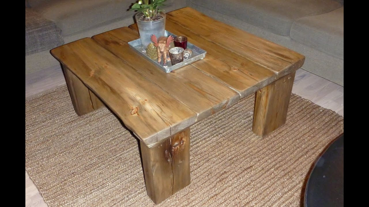 Make Coffee Table From Reclaimed Wood  Youtube