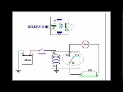 bosch 4 pin relay wiring diagram ge adora refrigerator el relevador o relay.wmv - youtube