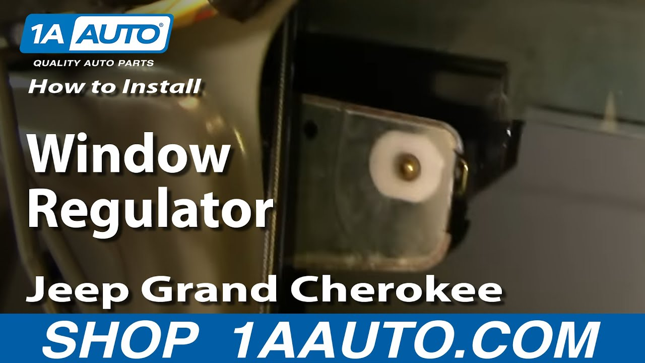 2000 jeep wrangler parts diagram paragon timer 8145 20 wiring how to install replace window regulator grand cherokee 99-04 - 1aauto.com youtube