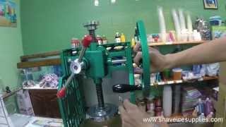 Fujimarca MC-711 Manual Shave Ice Machine Instructions