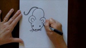 draw easy drawing mouse cartoon