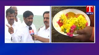 Minister Jagadish Reddy Face to Face   Releases Water From Dindi Project   TNews live Telugu