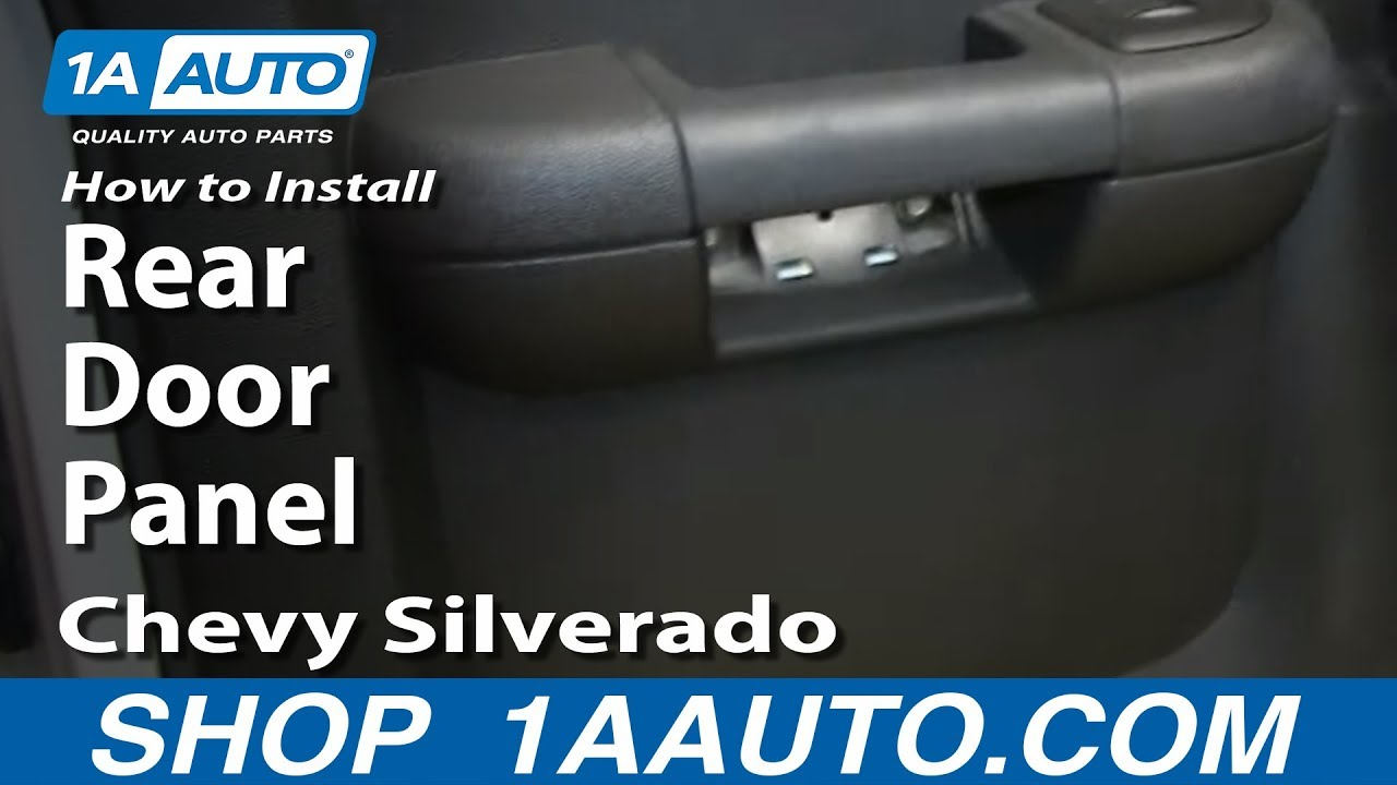 Ford Ranger Fuse Box How To Install Remove Rear Door Panel 2007 13 Chevy