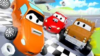 Tow Truck for kids - The Race Accident - Tom The Tow Truck in Car City