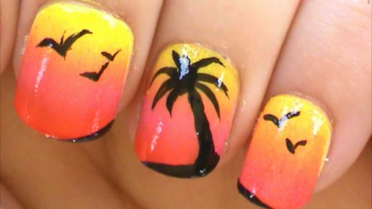 Palm Tree Nail Art Tutorial
