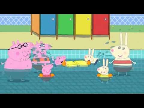 Peppa Pig Swimming Youtube Youtube
