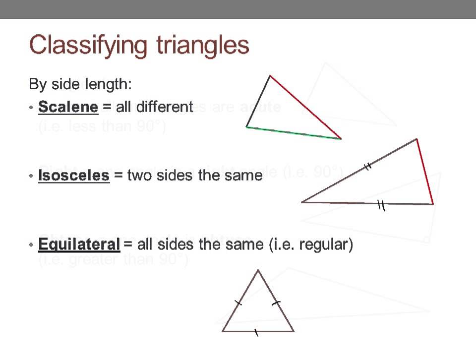 Names For Triangles