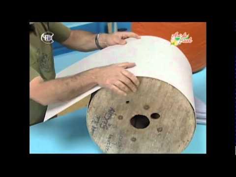Manualidades Van Gogh  Puf taburete con carrete de