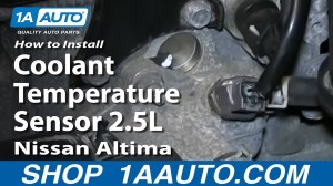 How To Install Replace Coolant Temperature Sensor 25L