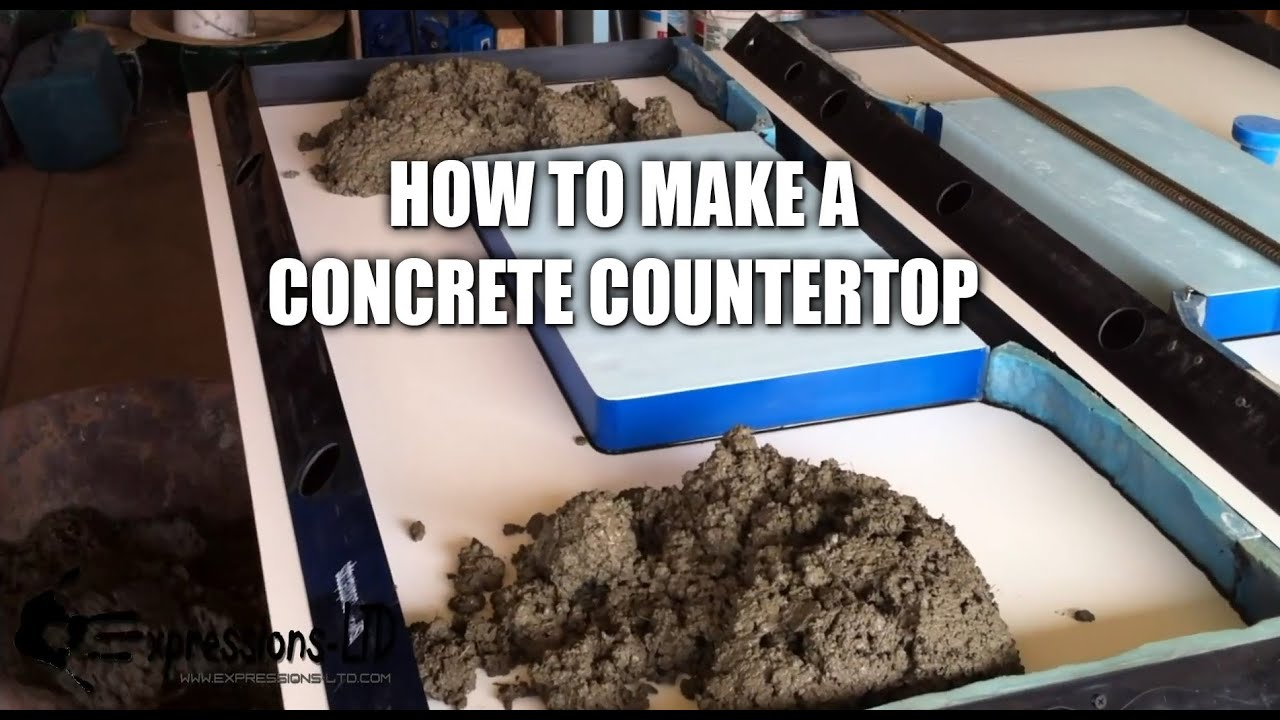 Making a Concrete Countertop with Sink Complete Steps  YouTube