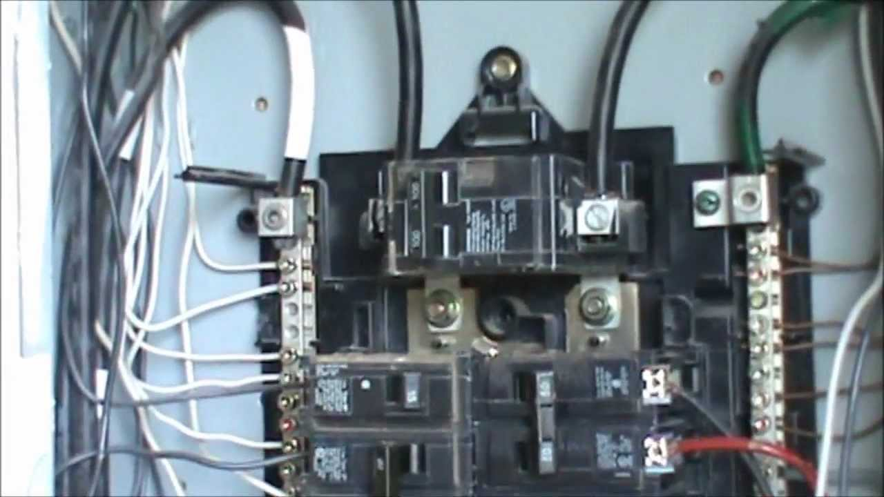 110v Rv Plug Wiring Diagram How To Wire A 240 Volt Circuit See Description Youtube