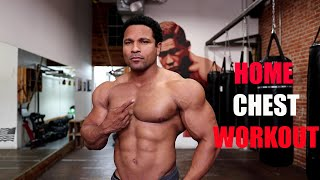 INTENSE HOME CHEST WORKOUT- WITH DUMBBELLS AND BENCH