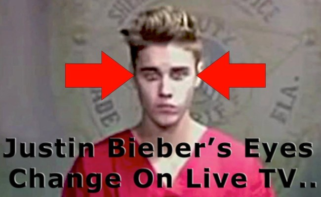 Justin Bieber The Deceiver His Eyes Change On Live Tv