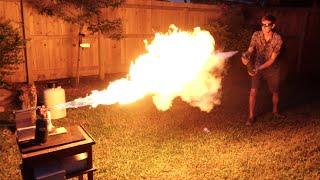 Liquid Nitrogen Freeze-Ray Vs. Flamethrower