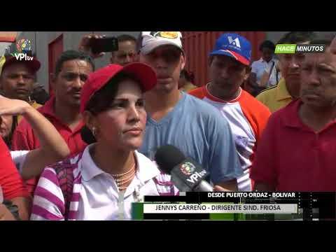 Venezuela- Trabajadores de Friosa en Bolivar exigen pagos atrasados - VPItv