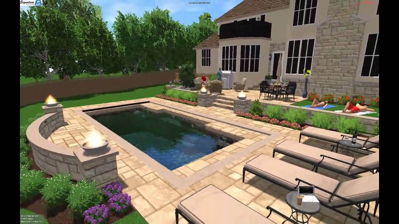 Fiberglass Pool 3D Swimming Pool Design of Fiberglass