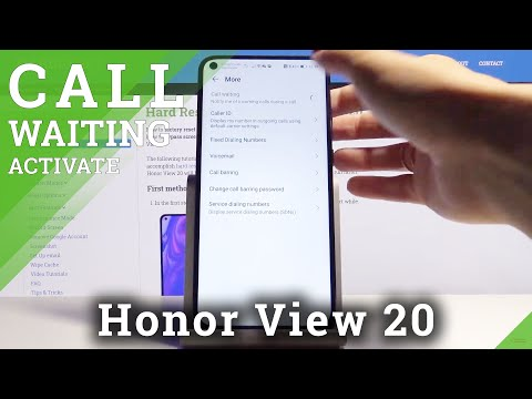 How to Activate Call Waiting on Honor View 20 - Calls Options
