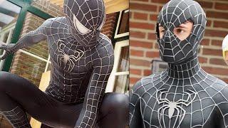 SPIDER-MAN Black Suit Movie Costume Replica!