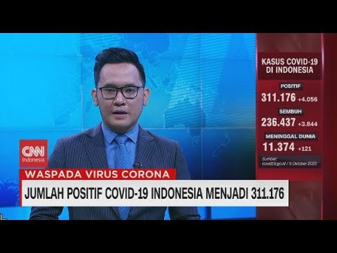Jumlah Positif Covid-19 Indonesia Menjadi 311.176