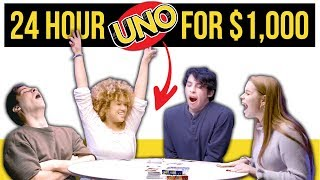 Epic 24 HOUR UNO Game For $1000!