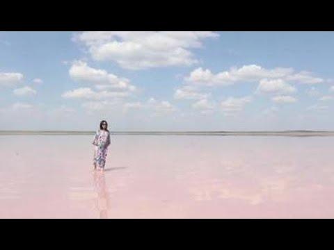 Lake Kobeituz, the pink jewel of the Kazakh steppe