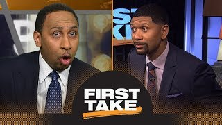 Stephen A. and Jalen Rose get heated over Anthony Davis and Boogie Cousins | First Take | ESPN
