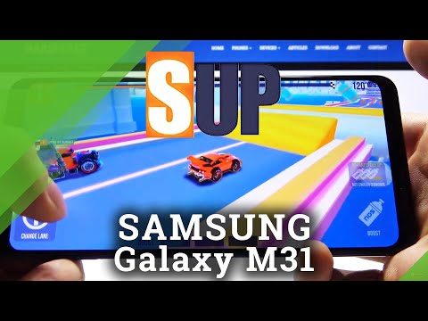 Gaming Possibilities of Samsung Galaxy M31 - SUP Multiplayer Racing Gameplay