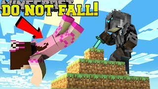 Minecraft: DO NOT FALL!! (STAY ON TOP OR DIE!) Mini-Game