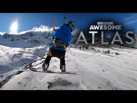 Aerial Kiteboarding in the French Alps with Laurent Guyot | People Are Awesome | Atlas