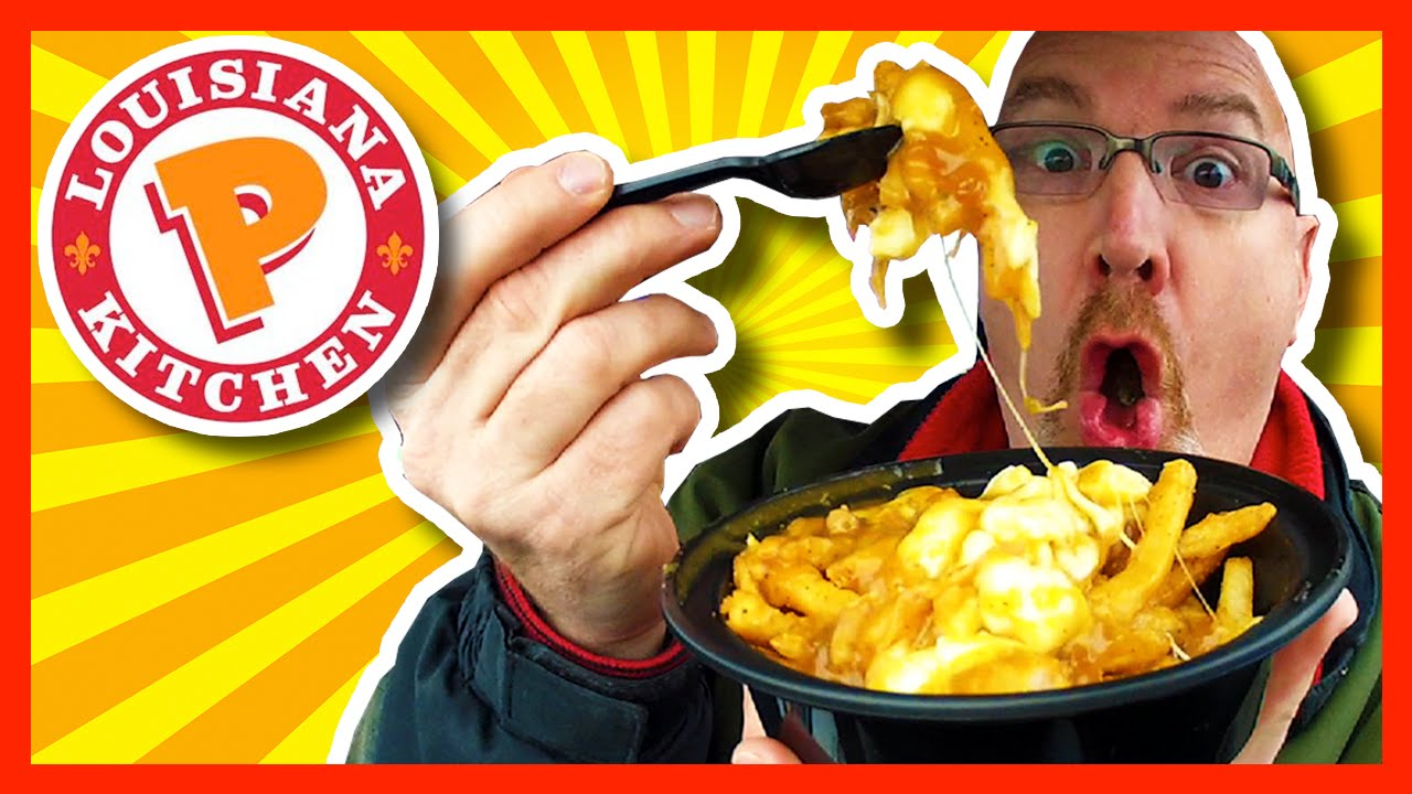 Popeyes Louisiana Kitchen Cajun Poutine Review  YouTube