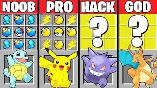 Minecraft Battle: POKEMON CRAFTING CHALLENGE - NOOB vs PRO vs HACKER vs GOD ~ Minecraft Animation