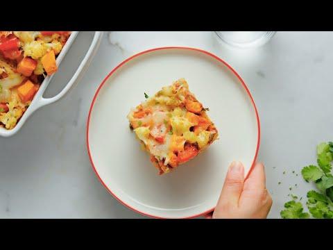Roasted Veggie Enchilada Casserole