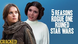 5 Reasons Rogue One Ruined Star Wars - Reckless Disagreement (Tarkin, Princess Leia)