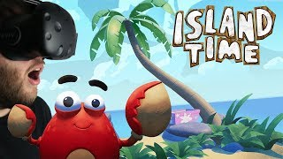 Island Time - Island Survival With A Crab! - Golden Fish & Human Skull Find - Island Time Gameplay