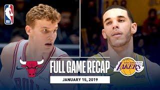 Full Game Recap: Bulls vs Lakers   Lonzo Leads Los Angeles