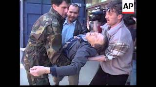 Bosnia - Sniper Attack In Sarajevo